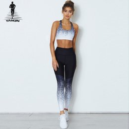 camouflage fitness pants Australia - Fitness Women Yoga Set Sports Suit Camouflage Printing Training Tops Pants Outdoor Sportswear Fitness Running Gym Clothes