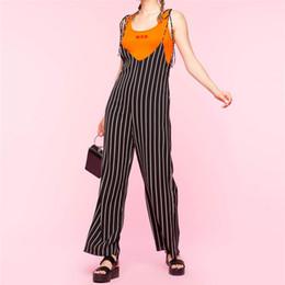 $enCountryForm.capitalKeyWord NZ - 2019 Sexy jumpsuit Women Plus Size stripe Print Camis Long Loose rompers womens jumpsuit hot sale backless bodysuit
