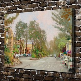 $enCountryForm.capitalKeyWord Australia - HD Printed Thomas Kinkade Oil Painting Home Decoration Wall Art on Canvas Carme Ocean Avenue Unframed