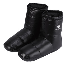 $enCountryForm.capitalKeyWord Australia - AEGISMAX Duck Down Slippers Shoes Bootees Boots Footwear Camping Feet Cover Warm winter hiking equipment sleeping bag accessory