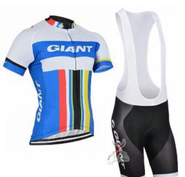 $enCountryForm.capitalKeyWord Australia - 2019 GIANT team Short Sleeves jersey bib shorts sets Summer Men's Comfortable Windproof Outdoor Sports Jersey Suit