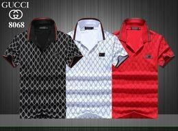 2019 novo high-end moda casal de manga curta de lapela T-shirt camisa POLO 1942600501252 venda por atacado