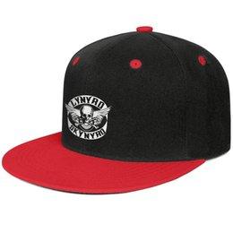 Flat Patch NZ - Unisex adjustable snapback fitted hats lynyrd skynyrd biker patch logo flat brim Baseball Cap Hunting Cap