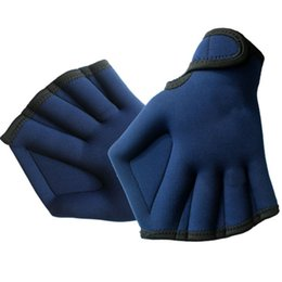 Paddle Sports Australia - 1 Pair 2MM Swimming Webbed Gloves Flipper Surfing Swimming Sports Paddle Training Fingerless Gloves SurfingTool
