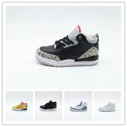 $enCountryForm.capitalKeyWord Australia - Hot Sale Retro Kids Shoes 3 White Cement Katrina Cyber Monday Basketball Shoes Youth Boys Girls 3s III White Cement Sneaker Size 11C-3Y
