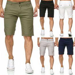 $enCountryForm.capitalKeyWord Australia - Hot Men Slim Fitness Solid Color Shorts Casual Work Uniform Half Pant Summer Jean Beach Cotton Shorts Baggy Trouser Short Pants