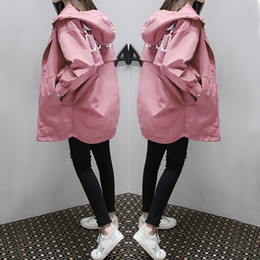 coating fat NZ - 2019 new Korean version of BF student baseball uniform fat MM loose large size long windbreaker cardigan coat female