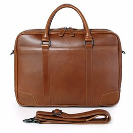 jmd leather bags Australia - JMD Men's Brown Laptop Bag Handbag Genuine Leather Top Handbag Women's bag 7348B