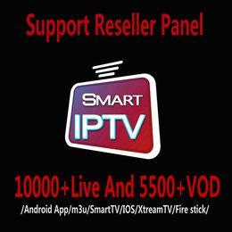Venta al por mayor de IPTV suscripción 10000 + 5500 + en vivo y VOD Abonnement IPTV francesa Portugal Italia Europa Árabe EE.UU. para IPTV Caja IOS Android TV CAJA M3U