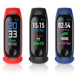 Smart watch tracker online shopping - 2019 M3 Smart Band Bracelet Heart Rate Watch Activity Fitness Tracker pulseira Relógios reloj inteligente PK fitbit XIAOMI apple watch