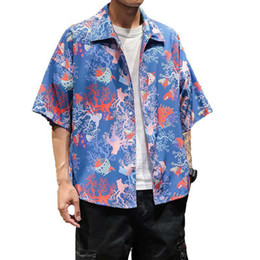 Chinese  Boho Clothing Beach Hawaiian Shirts For Men Aloha Shirt Plus Size 5XL Vintage Short Sleeve Summer Board Hawaii Shirts XXXXXL manufacturers