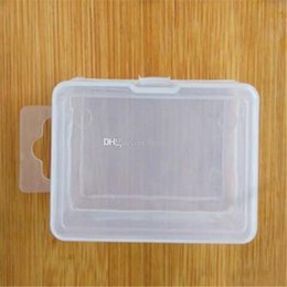 Discount small plastic cosmetic containers - Transparent Plastic Storage Box For Coin Sample Container Jewelry Cosmetic Small Part Boxes Free Shipping aa458-aa463 20