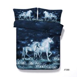 Print Duvet NZ - 3D Unicorn Bedding Duvet Cover Set 1 Comforter Cover 2 Pillow Shams Floral Bird Print Pattern Girls Kids Teens Gifts NO COMFORTER
