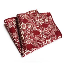 Scarfs Cotton UK - Hankerchief Scarves Vintage Cotton Hankies Men's Pocket Square Handkerchiefs Flower Paisley Pocket Towel Business Suit Casual
