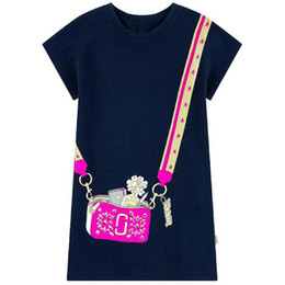 Wholesale Designer Kids Clothes for Girls Dresses Short Sleeve Summer Adorable Princess Dress with Cute Appliques Casual Dress For Toddler Clothing