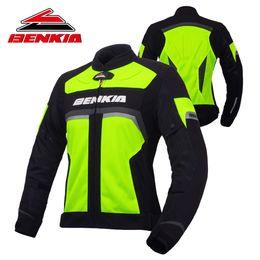 $enCountryForm.capitalKeyWord Australia - BENKIA Motorcycle Jacket Motocross Moto Biker Jacket Spring Summer Mesh Riding Denim For Women Moto Protection JS-W35