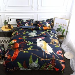 panda covers NZ - Wild Animal Bedding Set Bird Lesser Panda Printed Duvet Cover Set Bedclothes Reactive Printed Bed 3 4 Pieces