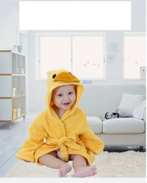 American and European pure cotton towel cloth bathrobe for children bathrobe  for babies bathrobe for changing clothes and hooded bathrobeCJY 52bf020d6