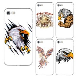 $enCountryForm.capitalKeyWord NZ - Soft TPU Phone Case For iPhone X 6 6S 7 8 Plus Xs Max Xr Samsung Galaxy S8 S9 Plus Note 8 9 Cartoon Male Eagle Painted Silicone Cover Shell