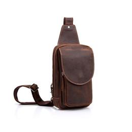 Mens Leather Messenger Bags UK - Leather Men Chest Bag 100% Genuine Leather Men Shoulder Bag Brand Designer Messenger Bags Casual Mens Crossbody Bags Pt1205