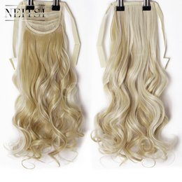 Discount hair clip tail curly - Neitsi Curly Long Clip In Hair Tail False Hair Ponytail Hairpiece With Hairpins Synthetic F22-613#