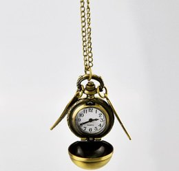 $enCountryForm.capitalKeyWord NZ - 2019 Harry Golden Snitch Pocket Watch Antique Bronze Wing Ball Pendant Necklace Chains Potter Watches Wholesale price