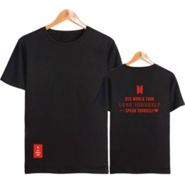 bts t shirt print 2020 - 2020 bullet-proof youth Tour and wo short-sleeved T-shirt bts 2020 bullet-proof youth Tour men's and women's s