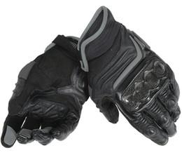 $enCountryForm.capitalKeyWord Australia - Motocross Dain Carbon D1 Short Leather Gloves for Motorcycle Team Racing Black Grey