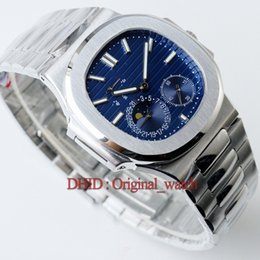 Luxury Display Cases Canada - luxury mens watches sport automatic watch 40mm 316L stainless steel case bracelet power display sapphire writwatch blue dial montre de luxe