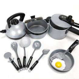 $enCountryForm.capitalKeyWord Australia - One Set Children Kitchen Cooking Utensils Accessories Play Toy Cook Pots Pans Cookware Kids Pretend Classic Toys Children gift