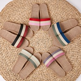 $enCountryForm.capitalKeyWord Australia - Summer New Arrival Top Sale new Fashion Instyle Rainbow Colorful Lady Woman Girls Love Sky Blue Pink Indoor Flip Flop Slippers Scuffs