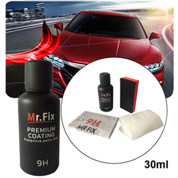 car paint coating NZ - Car Liquid 30ML Anti-scratch Car Polish Ceramic Glass Coat Auto Detailing Glass Motorcycle Paint Care Super Hydrophobic  3.47