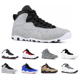 21357e6311f4 Mens 10s basketball shoes Desert Camo Tinker Cement Bobcats Grey chicage Cool  grey iam back Powder blue 10 trainers sports sneaker size 7-13