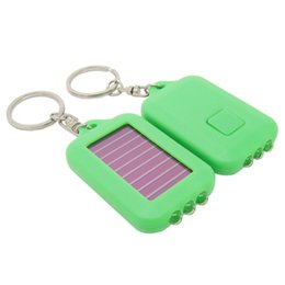 $enCountryForm.capitalKeyWord Australia - 3 LED Solar Power Emergency Light Rechargeable Keychain Ring Holder Camping Portable Light Bulb Outdoor Hiking Climbing