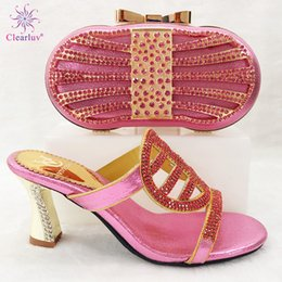 $enCountryForm.capitalKeyWord Australia - New Arrival Women Shoes and Bag To Match Set Italy Nigerian Women Wedding Pumps with Purse Block Heel Shoes Luxury Sandals Women