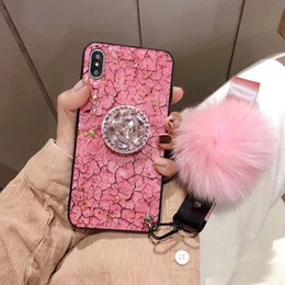 Iphone Cases Gold Color Australia - Latest Pink color for Designer Iphone Case marble grain gold foil for Iphone X Case Designer rhinestone hairball designer phone case