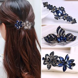 $enCountryForm.capitalKeyWord Australia - 2019 Women Fashion Crystal Rhinestone Flower Antique Silver Hairpin Lady Girls Metals Barrette Butterfly Hair Clip Hair Accories