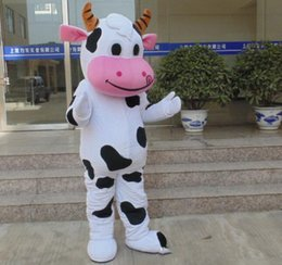 cheap lights for sales NZ - SX0724 Light and easy to wear cheap milkcow adult milk cow mascot costume for adult to wear for sale