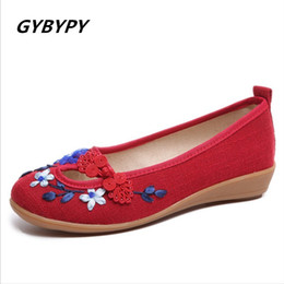 800474ec1e80c New women s shoes cotton linen ethnic handmade embroidered shoes deodorant  sweat-absorbent breathable old Beijing cloth shoes