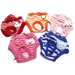 Diapers For Dogs Australia - 1PCS Pets Dog Diapers Washable Male Female Physiological Pants For Pets Underwear Puppy Diaper 5 Sizes Multi-Colors