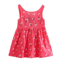 years old baby girl dresses NZ - 2-7 years old baby baby girl flower skirt summer girl princess dress children's clothing children's birthday clothing pink blue