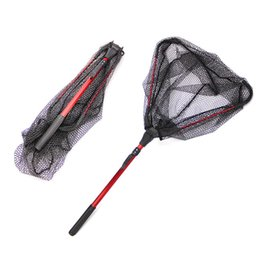 $enCountryForm.capitalKeyWord Australia - Portable Triangular Aluminum Alloy Folding Fishing Nets 80cm Telescoping Landing Net Pole Casting Network Fishing Nets