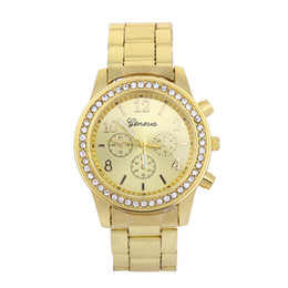$enCountryForm.capitalKeyWord UK - Geneva Watches Women's Men's Alloy Diamonds Three-eye Sports Quartz Women's Unisex Watches