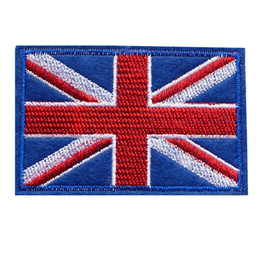 Uk Hats Australia - 7CM Embroidered Patch United Kingdom National Flag Sew Iron On Patches UK Embroidery Badges For Bag Jeans Hat T Shirt DIY Appliques Craft