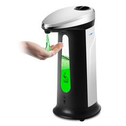Dispenser Kitchen Australia - Automatic Liquid Soap Dispenser 400ml Smart Sensor Touchless ABS Sanitizer Dispensador for Kitchen Bathroom Soap Dispenser GGA1660