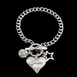 Girls stylish chain online shopping - 925 Silver Fashion Star Heart Charms Love Bracelet Jewelry Heart Pendant Classic Stylish Bracelet for Women Girls