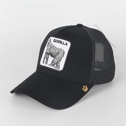 Woman visors online shopping - Summer Bee Mesh Hats Women Fashion Visor Hat Men Embroidery Tiger Baseball Caps Adjustable Snapback Animals Hat Golf Ball Cap