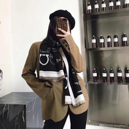 Tassels pashminas online shopping - High quality women s wool scarf shawl fashion casual tassel alphabet plaid design style autumn and winter warm brand scarf