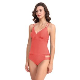 273806764a66f6 European and American women's split bathing suit sexy pure color two-piece  suit with multi-color selection backless fitness party beach bath