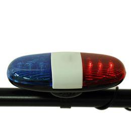 Venta al por mayor de 6 LED 4 Tono Bicicleta electrónica Bicicleta Llamada Coche Bicicleta Luz Altavoz de Bicicleta Policía Sirena Timbre Bicicleta Bell Horne Accesorios